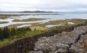 Le rift de Thingvellir en Islande.
