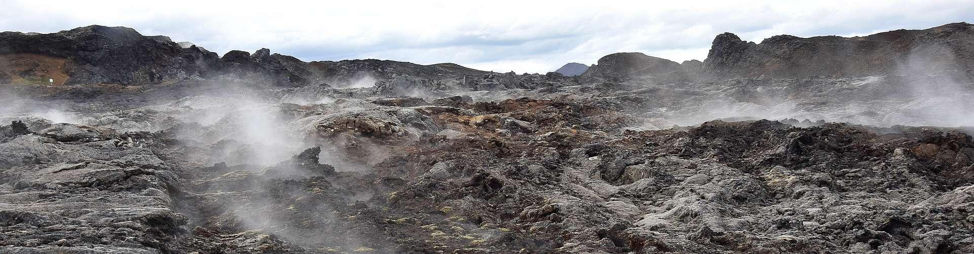 Coulée lave Krafla Islande