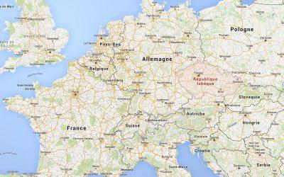 Carte Europe - République Tcheque