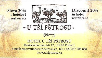 Ticket Hôtel U Tří Pštrosů à Prague