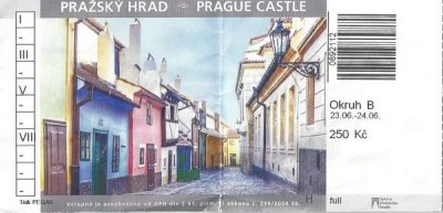 Prague, ticket chateau