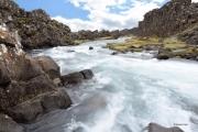 <h5>Thingvellir, cascade sous le soleil</h5>