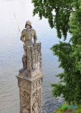 <h5>Prague, statue Du Chevalier Bruncvik</h5>