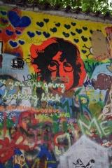 <h5>Prague, le mur Lennon</h5>