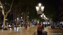 <h5>Barcelone, la Rambla de nuit</h5>