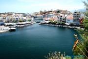 <h5>Le lac Voulismeni relié au port de Nikolaos </h5>