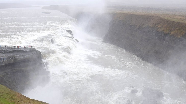 Gullfoss, la double cascade de 32m de hauteur
