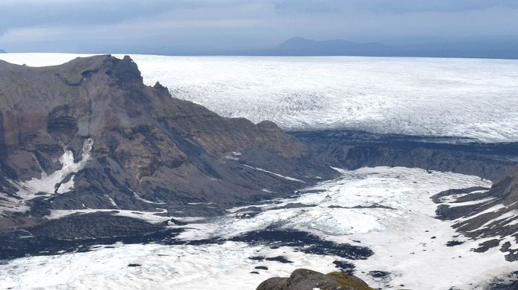 Randonnée au pied du glacier Myrdalsjokull